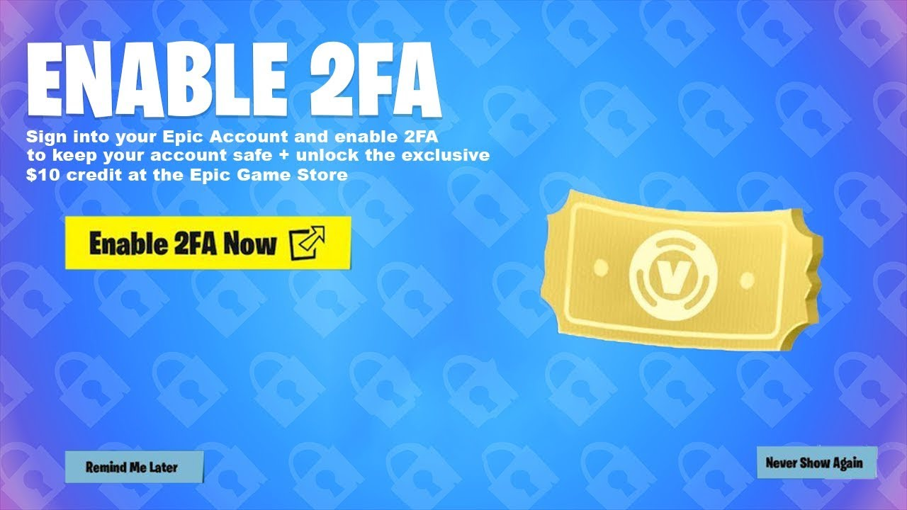 2FA V-Bucks