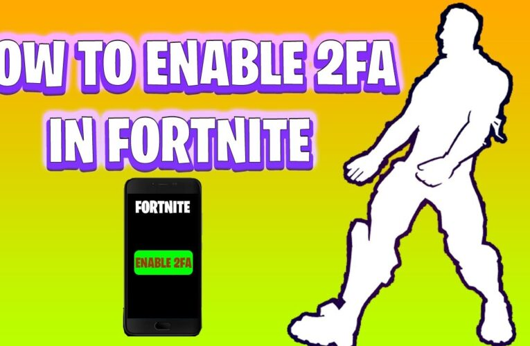 Fortnite two factor authentication enable